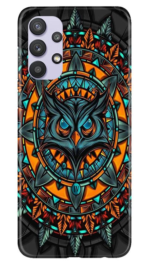 Owl Mobile Back Case for Samsung Galaxy A32 (Design - 360)