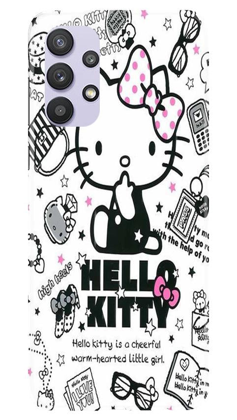 Hello Kitty Mobile Back Case for Samsung Galaxy A32 (Design - 361)