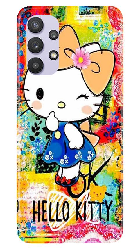 Hello Kitty Mobile Back Case for Samsung Galaxy A32 (Design - 362)