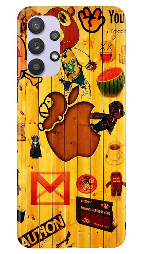 Wooden Texture Mobile Back Case for Samsung Galaxy A32 (Design - 367)