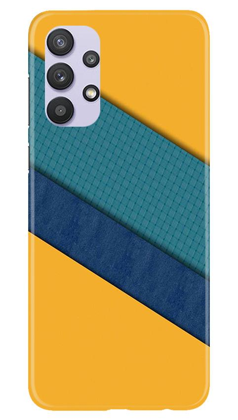Diagonal Pattern Mobile Back Case for Samsung Galaxy A32 (Design - 370)