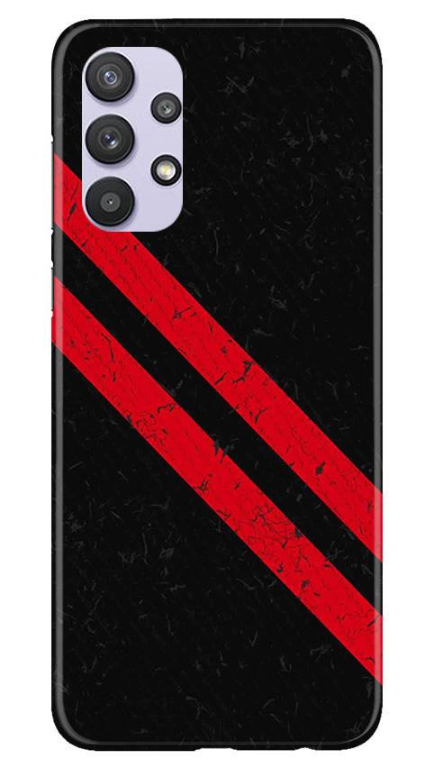 Black Red Pattern Mobile Back Case for Samsung Galaxy A32 (Design - 373)