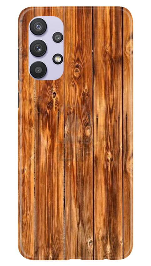 Wooden Texture Mobile Back Case for Samsung Galaxy A32 (Design - 376)
