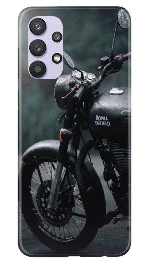 Royal Enfield Mobile Back Case for Samsung Galaxy A32 (Design - 380)