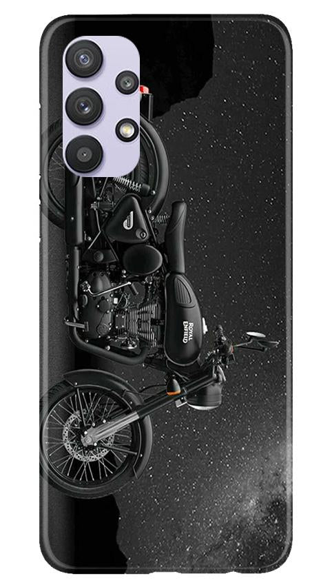 Royal Enfield Mobile Back Case for Samsung Galaxy A32 (Design - 381)
