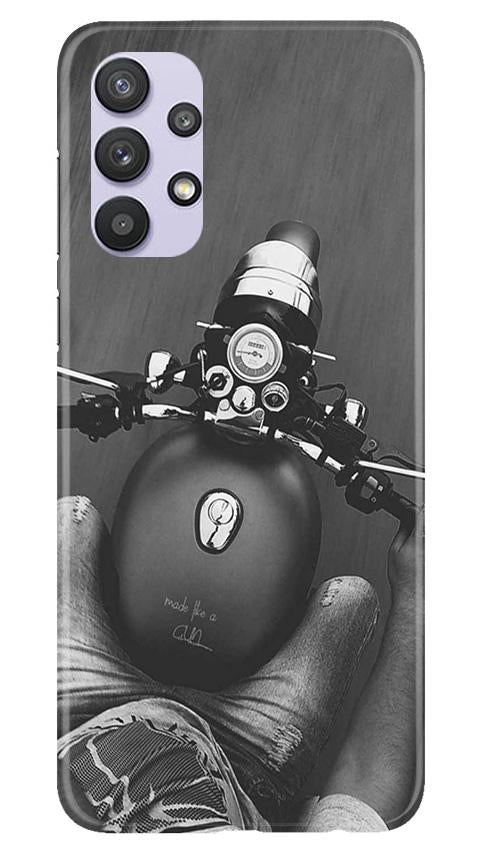 Royal Enfield Mobile Back Case for Samsung Galaxy A32 (Design - 382)