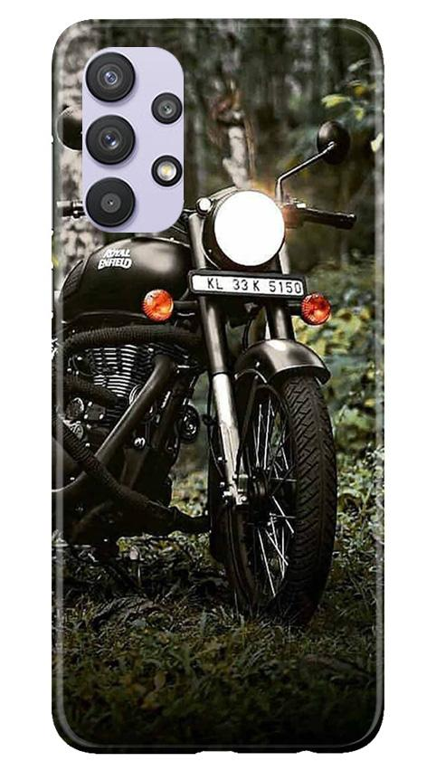 Royal Enfield Mobile Back Case for Samsung Galaxy A32 (Design - 384)