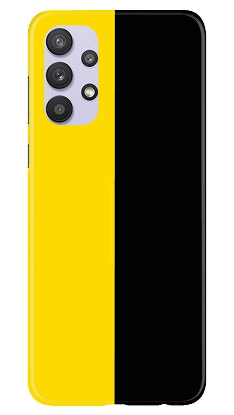 Black Yellow Pattern Mobile Back Case for Samsung Galaxy A32 (Design - 397)