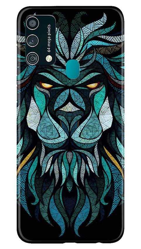 Lion Mobile Back Case for Samsung Galaxy F41 (Design - 314)