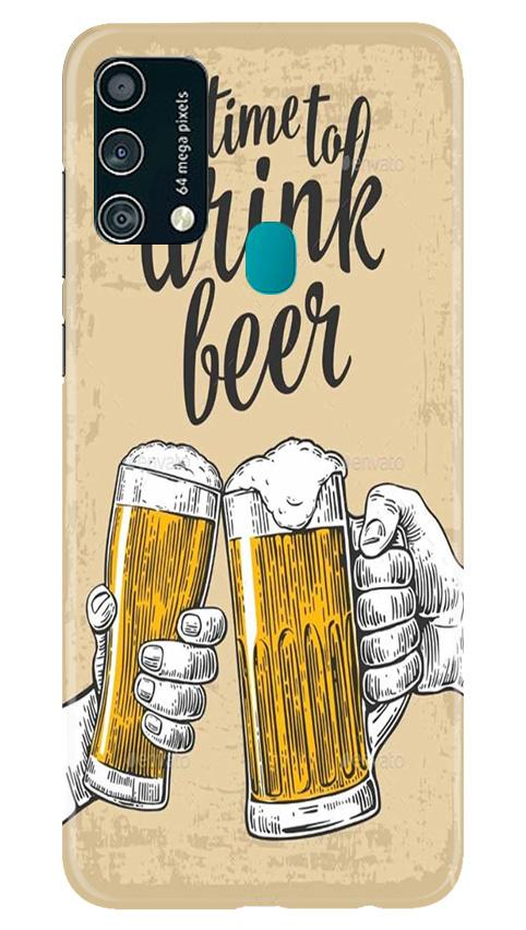 Drink Beer Mobile Back Case for Samsung Galaxy F41 (Design - 328)