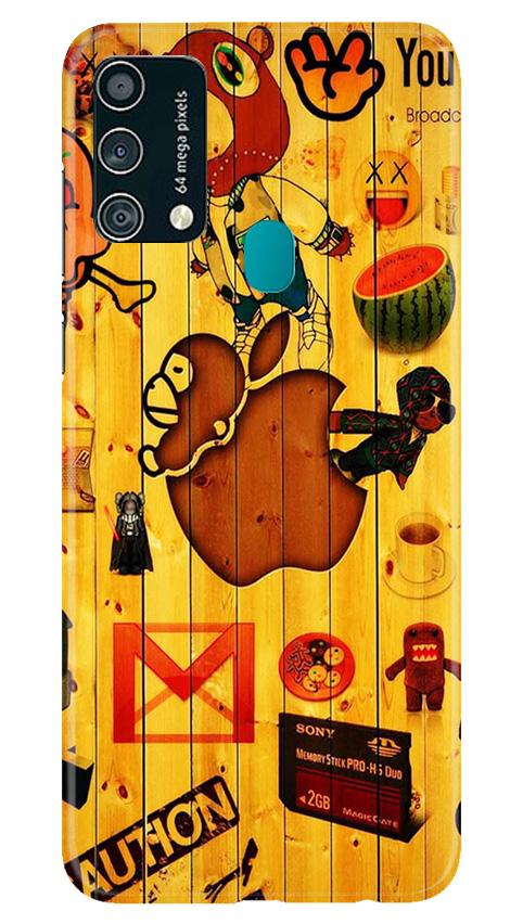 Wooden Texture Mobile Back Case for Samsung Galaxy F41 (Design - 367)