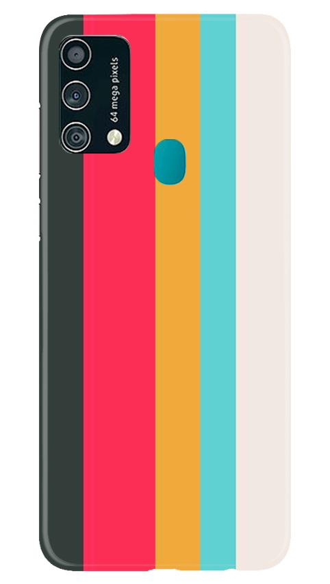 Color Pattern Mobile Back Case for Samsung Galaxy F41 (Design - 369)