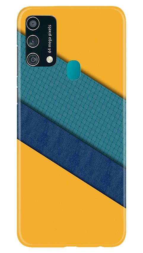 Diagonal Pattern Mobile Back Case for Samsung Galaxy F41 (Design - 370)