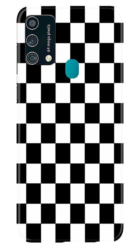 Black White Boxes Mobile Back Case for Samsung Galaxy F41 (Design - 372)