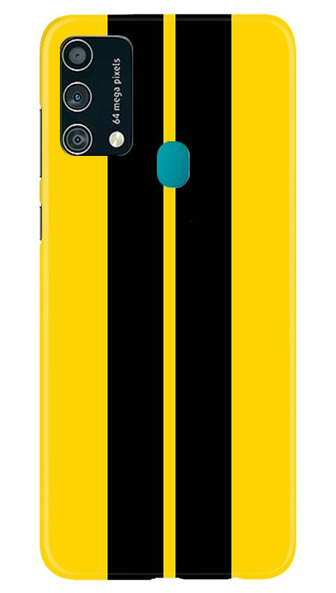 Black Yellow Pattern Mobile Back Case for Samsung Galaxy F41 (Design - 377)