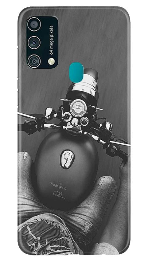Royal Enfield Mobile Back Case for Samsung Galaxy F41 (Design - 382)