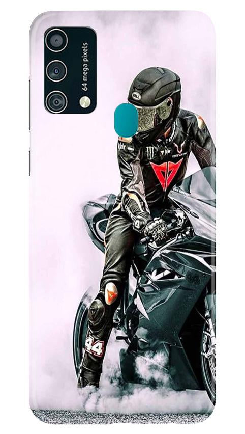 Biker Mobile Back Case for Samsung Galaxy F41 (Design - 383)