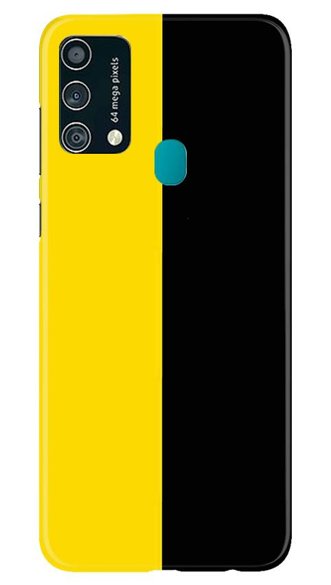 Black Yellow Pattern Mobile Back Case for Samsung Galaxy F41 (Design - 397)
