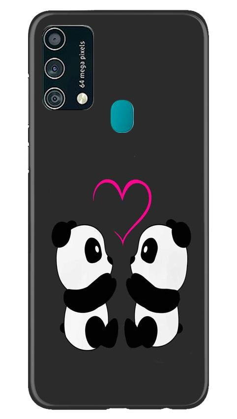Panda Love Mobile Back Case for Samsung Galaxy F41 (Design - 398)