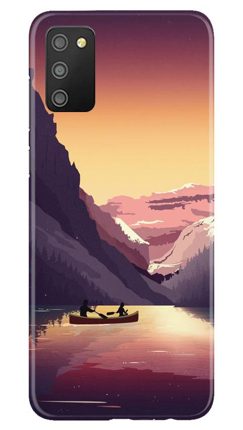 Mountains Boat Case for Samsung Galaxy M02s (Design - 181)