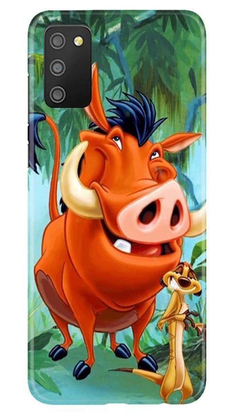 Timon and Pumbaa Mobile Back Case for Samsung Galaxy M02s (Design - 305)