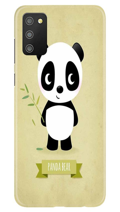 Panda Bear Mobile Back Case for Samsung Galaxy M02s (Design - 317)