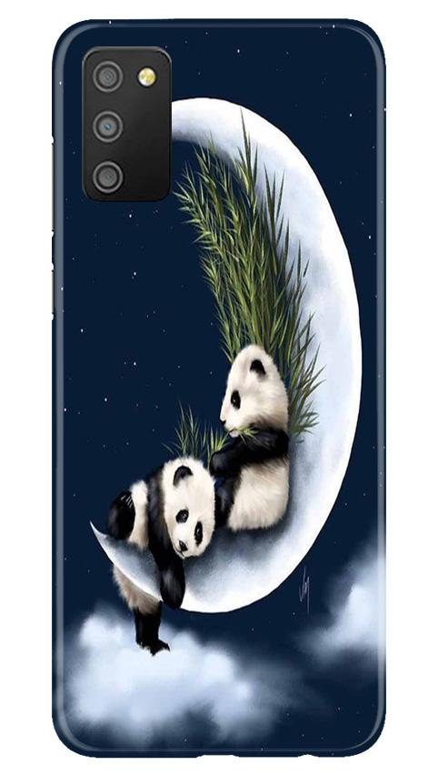 Panda Moon Mobile Back Case for Samsung Galaxy M02s (Design - 318)
