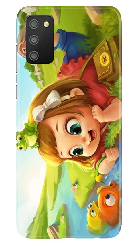 Baby Girl Mobile Back Case for Samsung Galaxy M02s (Design - 339)