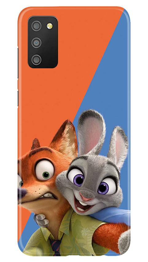 Cartoon Mobile Back Case for Samsung Galaxy M02s (Design - 346)