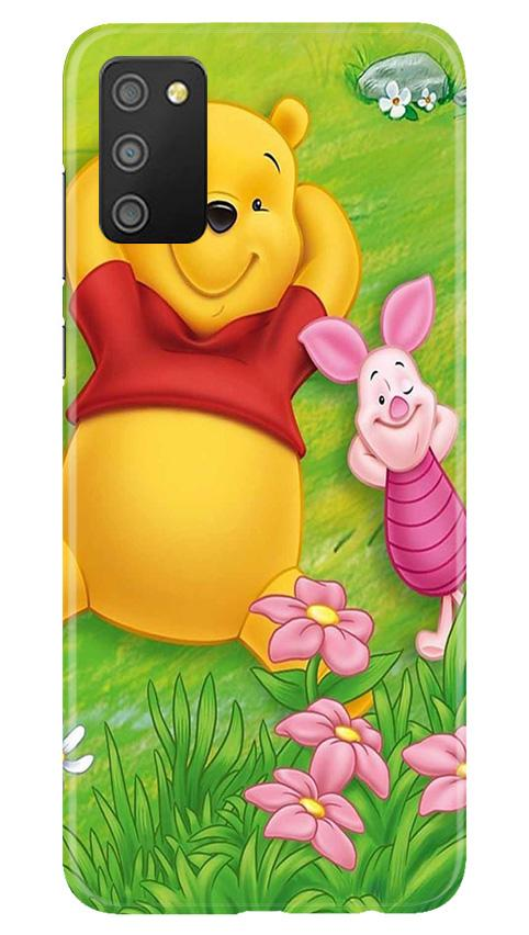 Winnie The Pooh Mobile Back Case for Samsung Galaxy M02s (Design - 348)