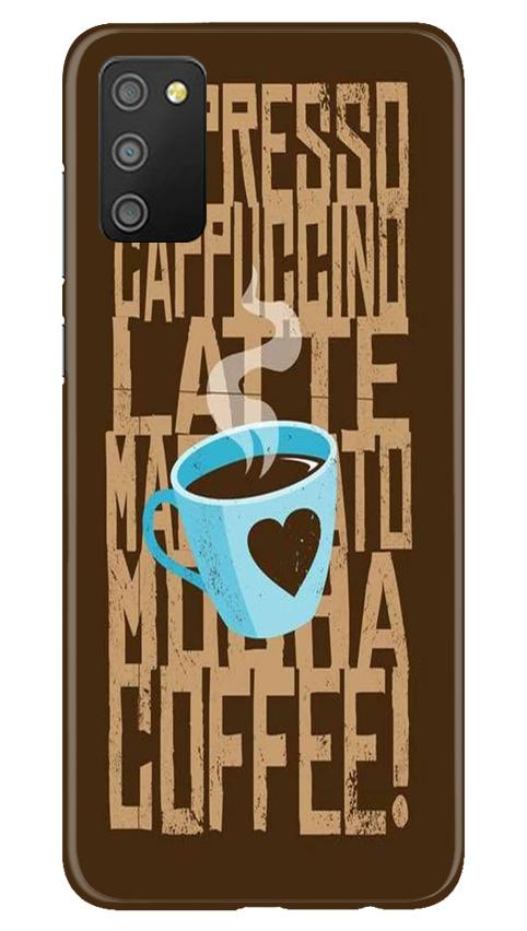 Love Coffee Mobile Back Case for Samsung Galaxy M02s (Design - 351)
