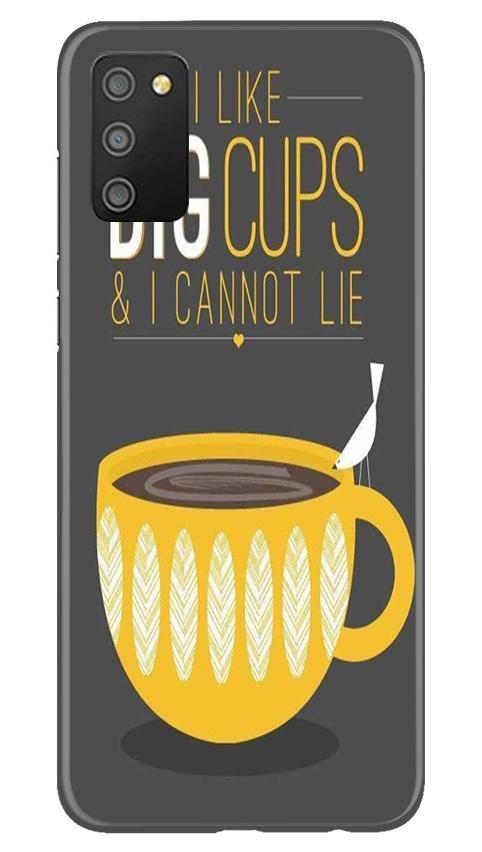 Big Cups Coffee Mobile Back Case for Samsung Galaxy M02s (Design - 352)