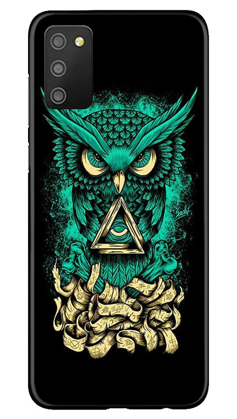 Owl Mobile Back Case for Samsung Galaxy M02s (Design - 358)