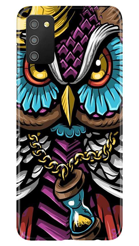 Owl Mobile Back Case for Samsung Galaxy M02s (Design - 359)