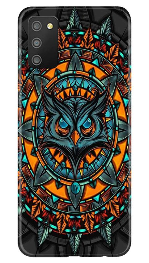 Owl Mobile Back Case for Samsung Galaxy M02s (Design - 360)