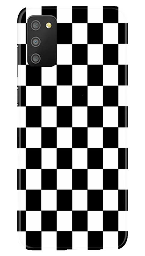 Black White Boxes Mobile Back Case for Samsung Galaxy M02s (Design - 372)