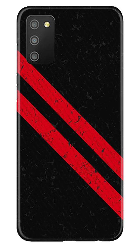 Black Red Pattern Mobile Back Case for Samsung Galaxy M02s (Design - 373)