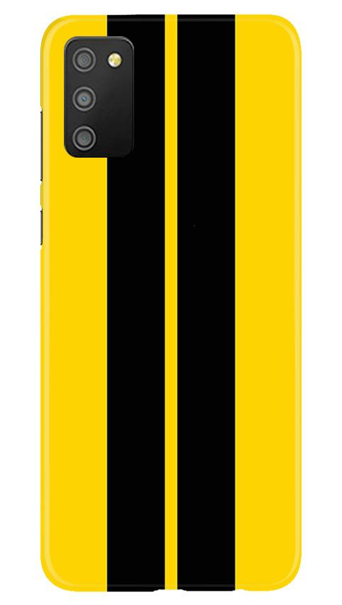 Black Yellow Pattern Mobile Back Case for Samsung Galaxy M02s (Design - 377)