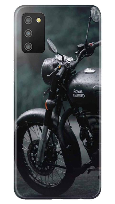 Royal Enfield Mobile Back Case for Samsung Galaxy M02s (Design - 380)