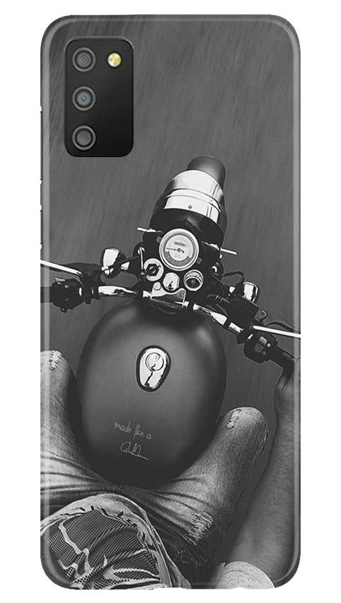 Royal Enfield Mobile Back Case for Samsung Galaxy M02s (Design - 382)