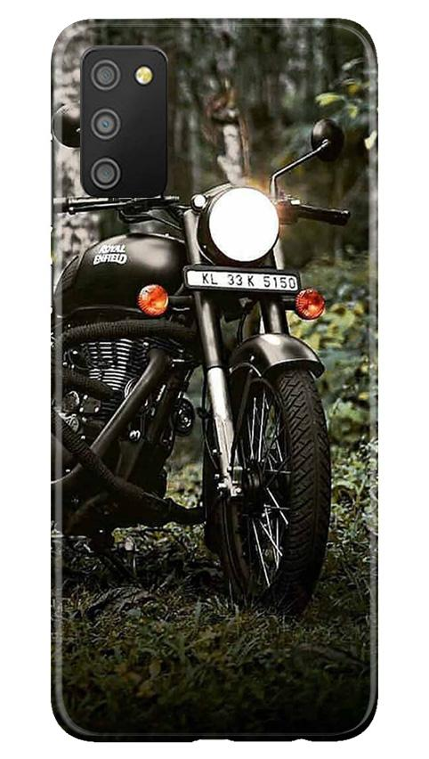 Royal Enfield Mobile Back Case for Samsung Galaxy M02s (Design - 384)