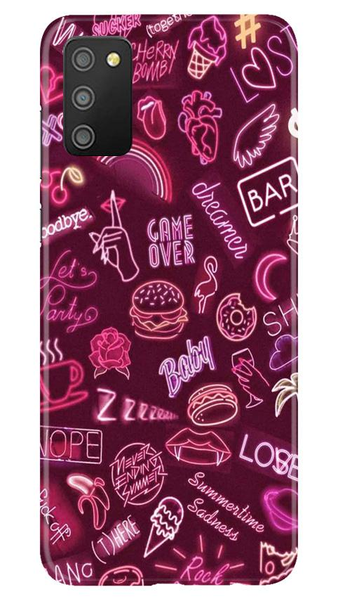Party Theme Mobile Back Case for Samsung Galaxy M02s (Design - 392)
