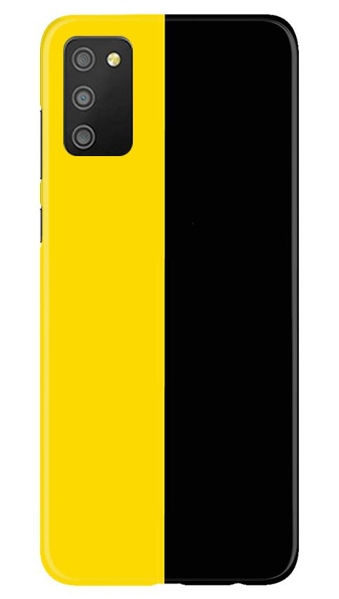 Black Yellow Pattern Mobile Back Case for Samsung Galaxy M02s (Design - 397)