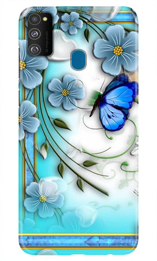 Blue Butterfly Case for Samsung Galaxy M21