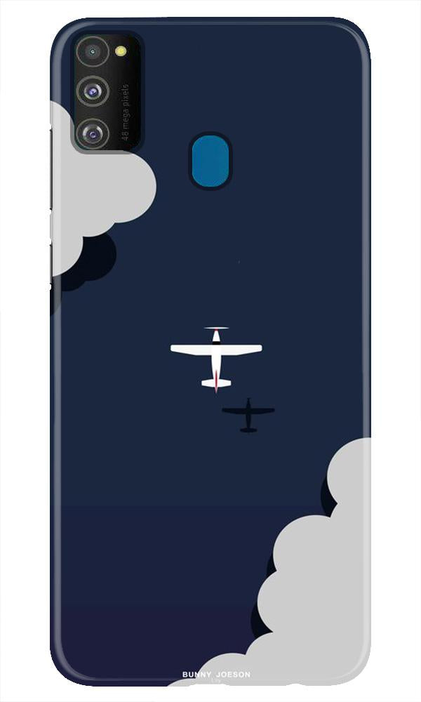 Clouds Plane Case for Samsung Galaxy M21 (Design - 196)