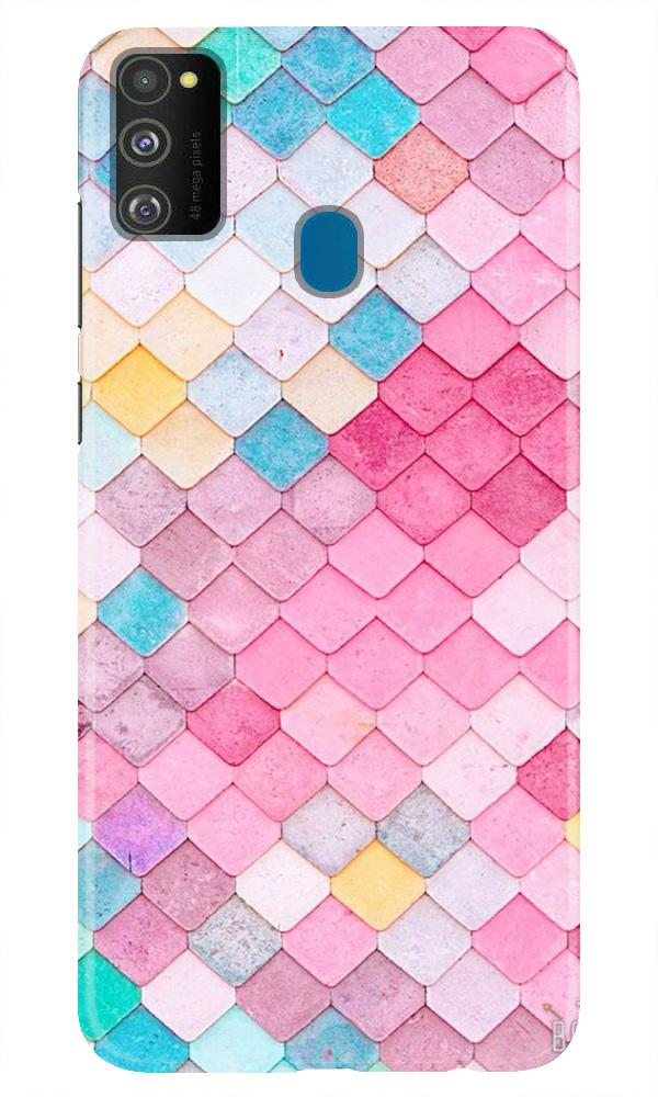 Pink Pattern Case for Samsung Galaxy M21 (Design No. 215)