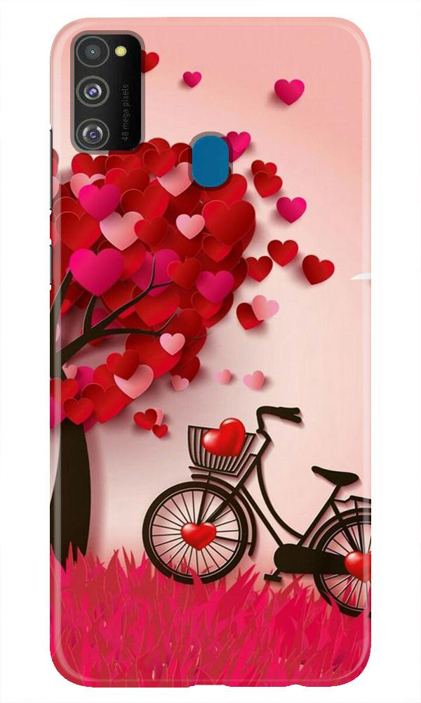 Red Heart Cycle Case for Samsung Galaxy M21 (Design No. 222)