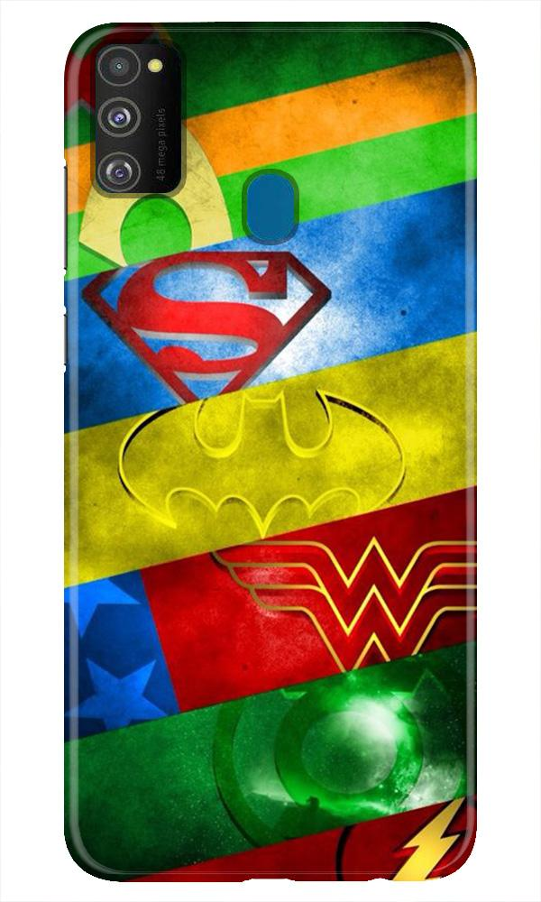 Superheros Logo Case for Samsung Galaxy M21 (Design No. 251)