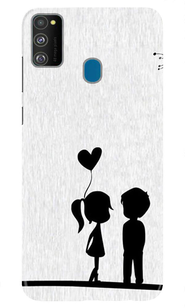 Cute Kid Couple Case for Samsung Galaxy M21 (Design No. 283)