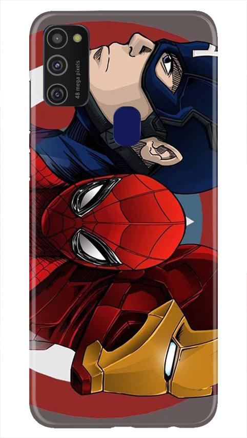 Superhero Mobile Back Case for Samsung Galaxy M21   (Design - 311)